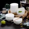 餐具碗10个装 纯白骨瓷碗家用4.5英寸饭碗白色陶瓷碗面碗10只汤碗