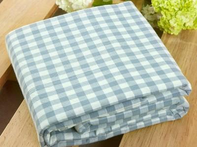 水洗棉床单单件纯棉 学生宿舍单人双人床纯色格子全棉被单三件套